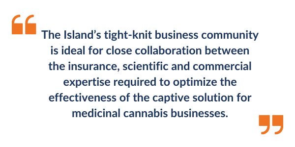 Medicinal Cannabis Captive Insurance Isle of Man article quote